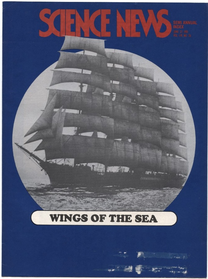 Science News June 27 1981 Modern sailing cargo ships