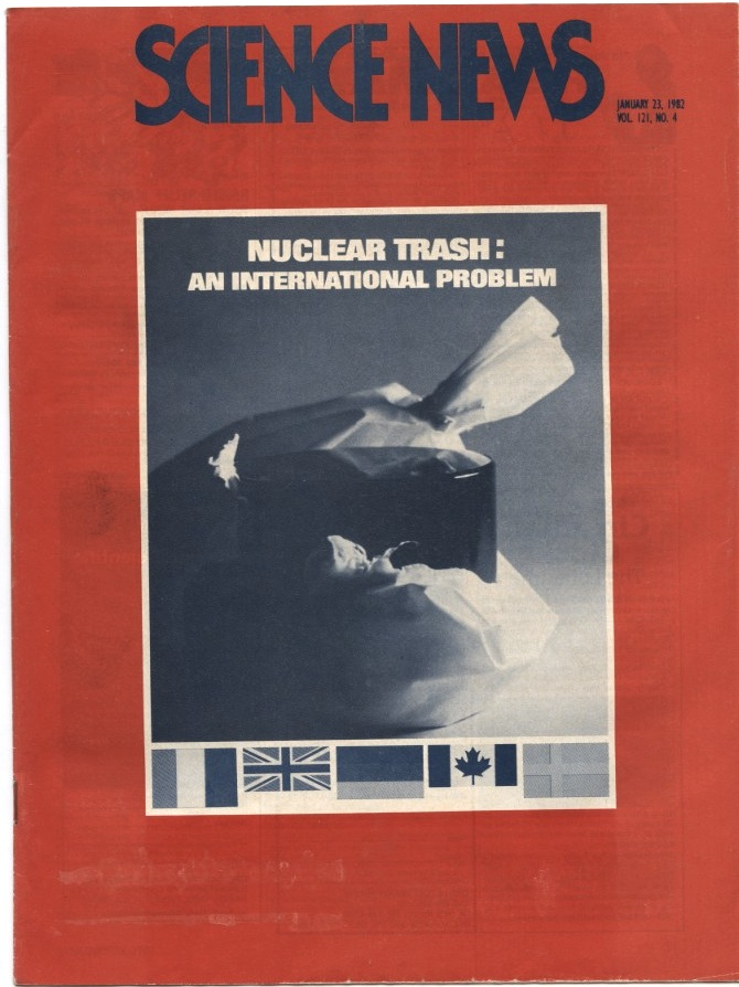 Science News January 23 1982 Nuclear Trash An International Problem