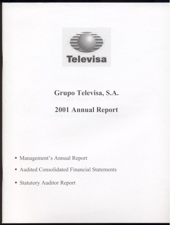Groupo Televisa, S.A. 2001 Annual Report