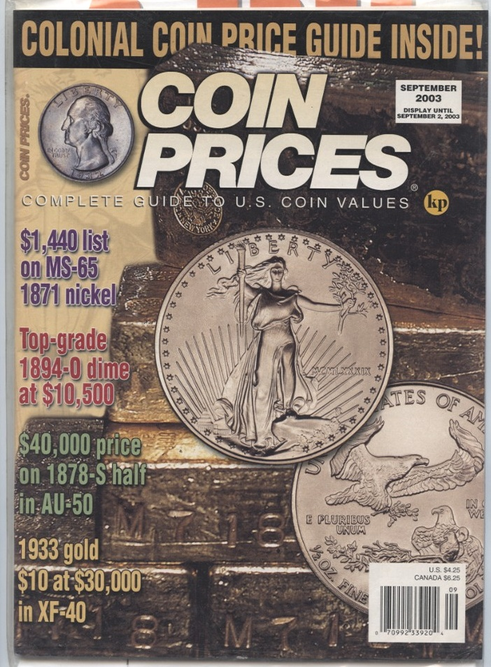 Coin Prices Magazine September 2003