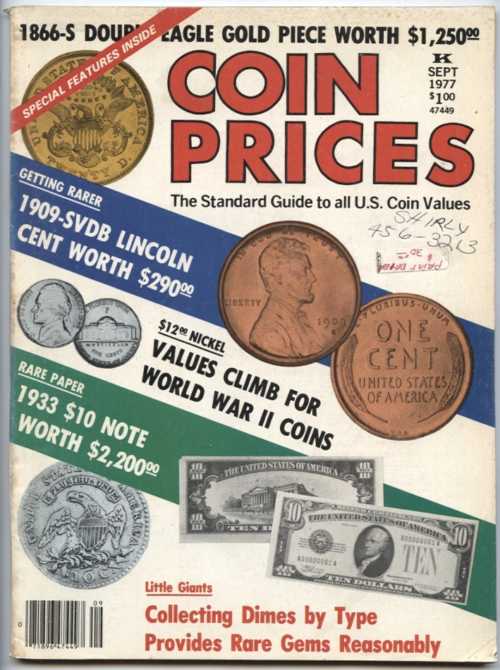 Coin Prices Magazine September 1977