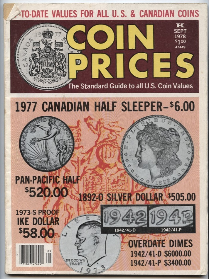 Coin Prices Magazine September 1978