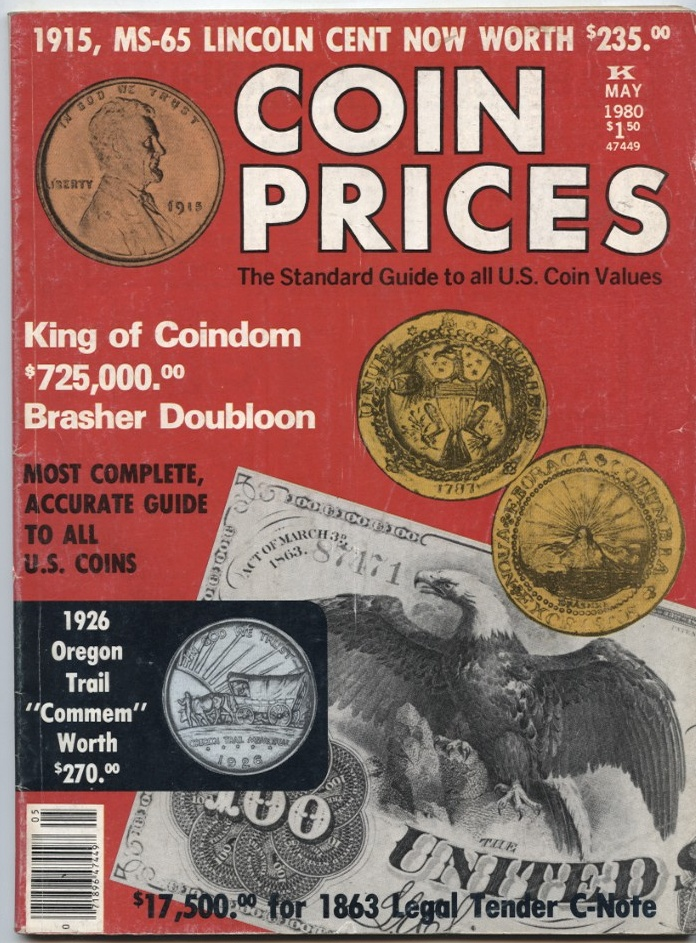 Coin Prices Magazine May 1980