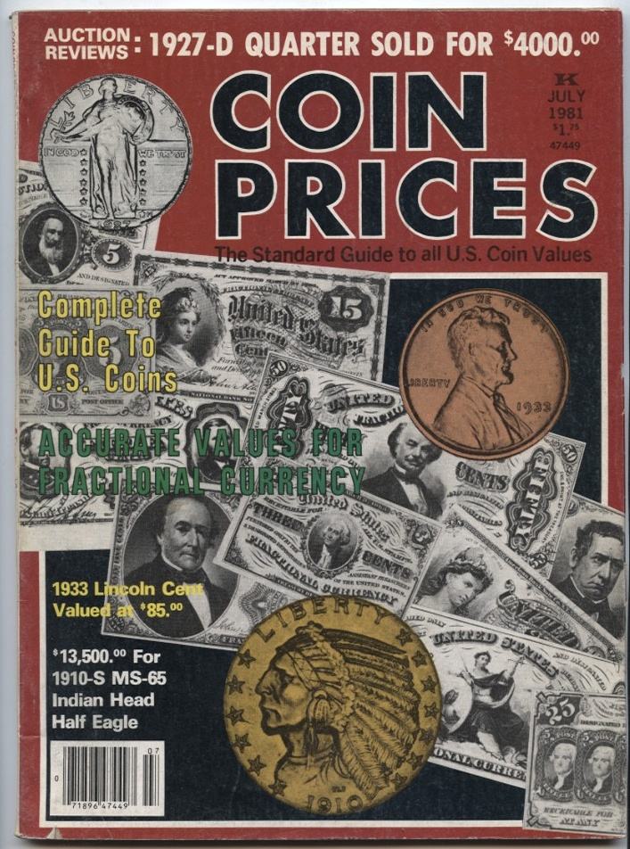 Coin Prices Magazine July 1981