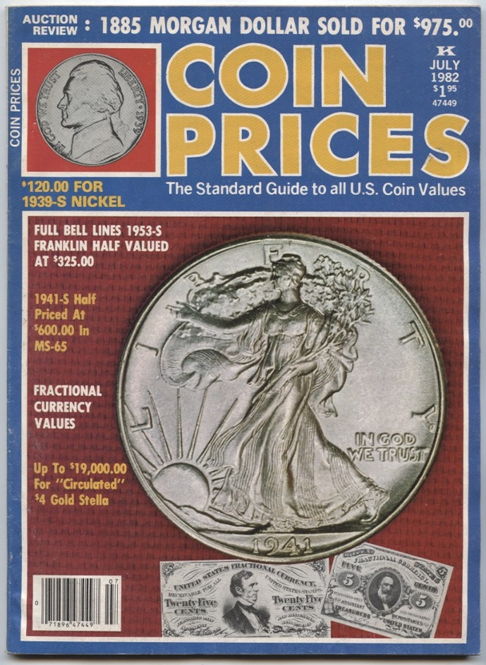 Coin Prices Magazine July 1982
