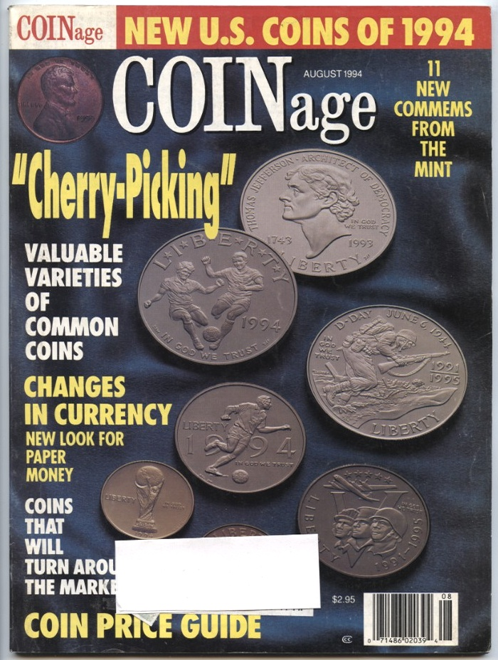 Coinage Magazine August 1994