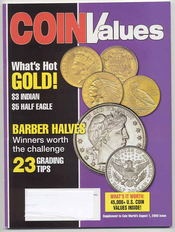 Coin Values Magazine August 2005