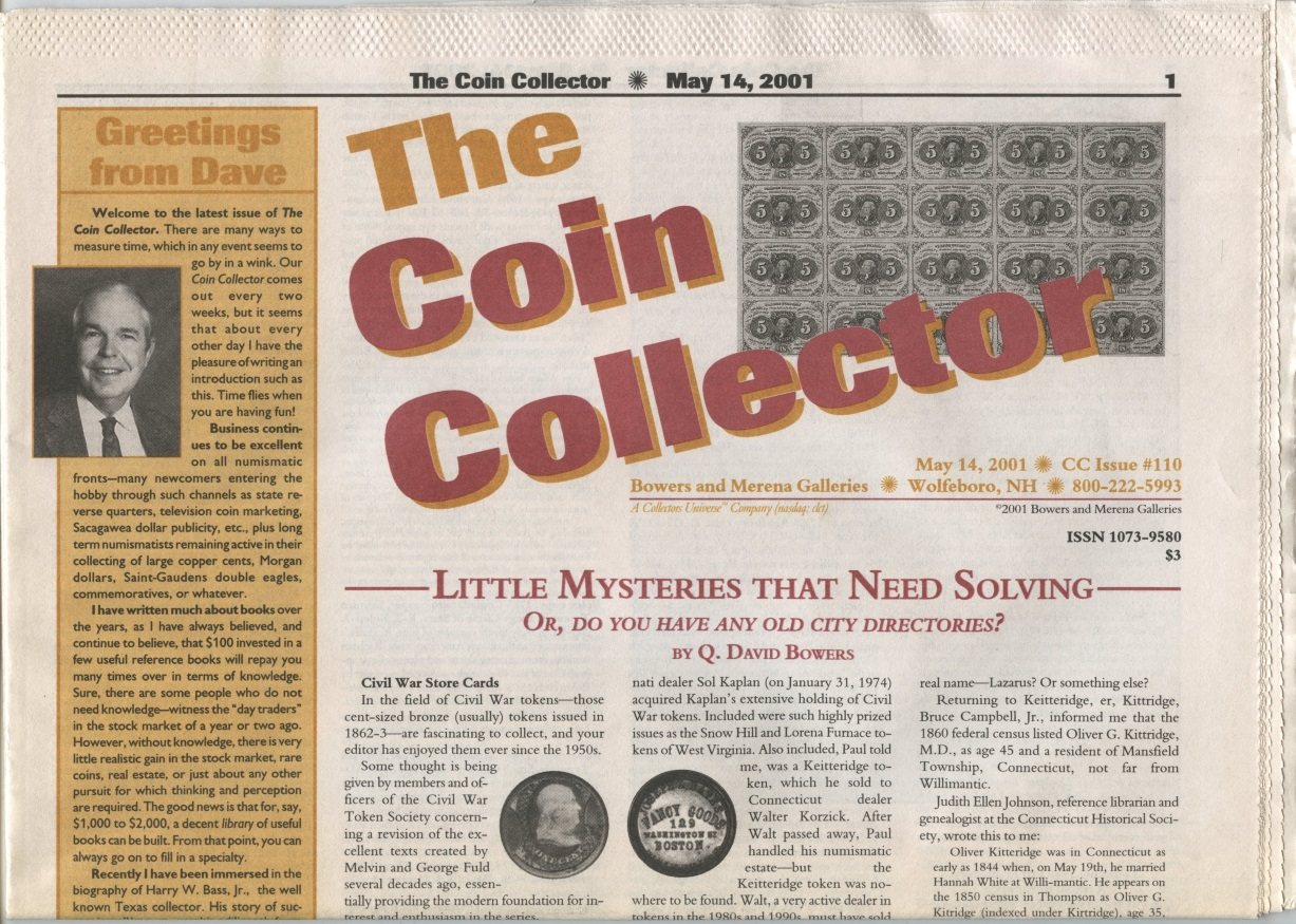Bowers and Merena The Coin Collector #110