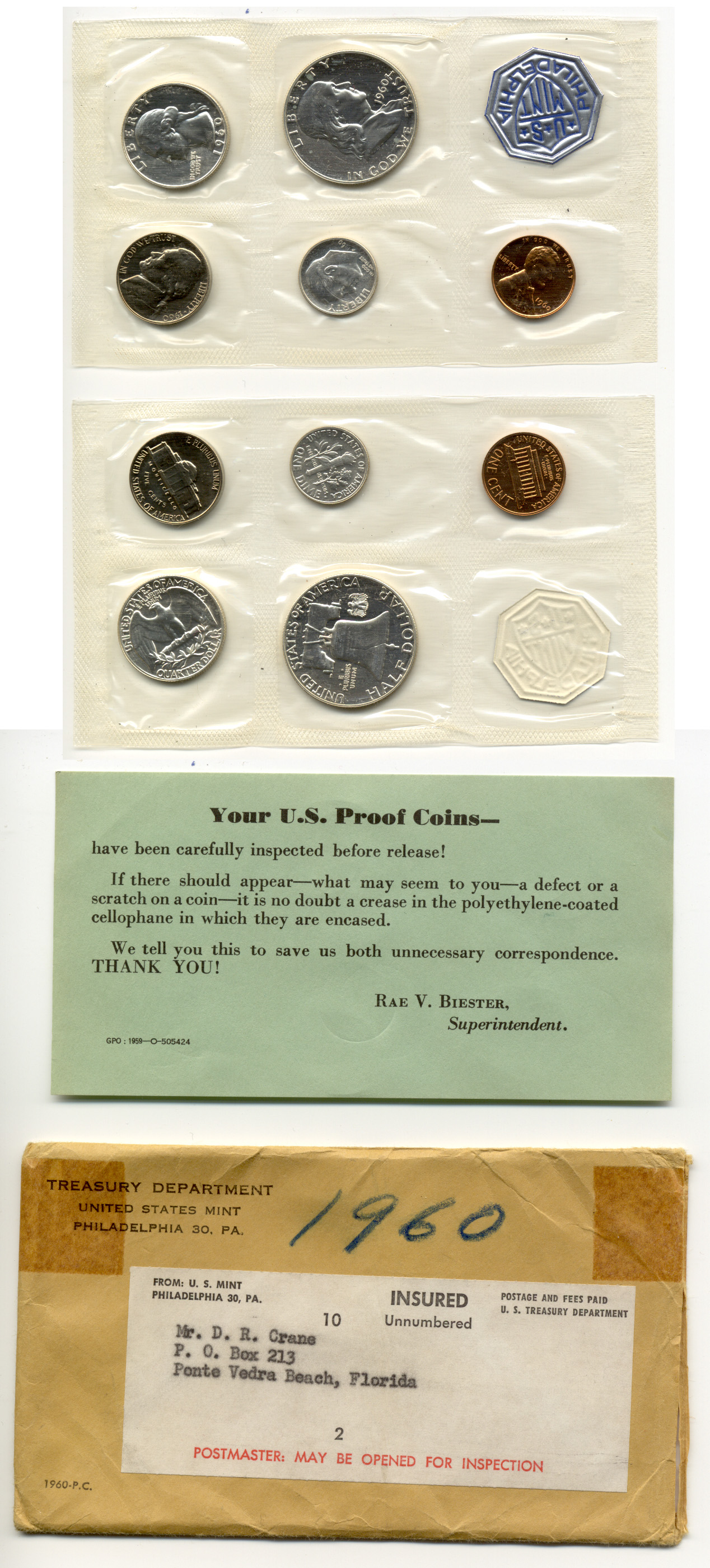 1960 Small Date United States Proof Set