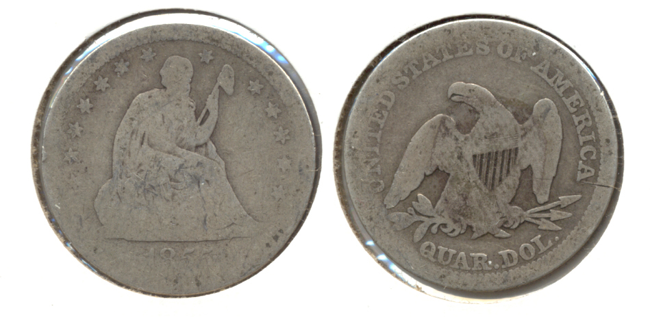 1855 Seated Liberty Quarter AG-3 b