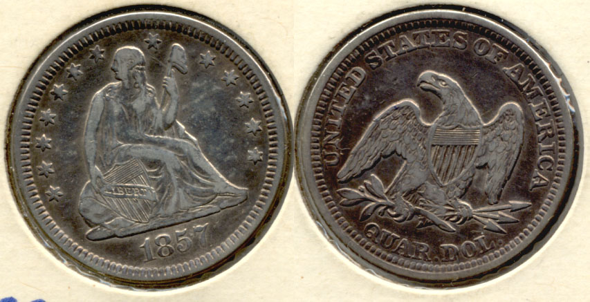 1857 Seated Liberty Quarter VF-20