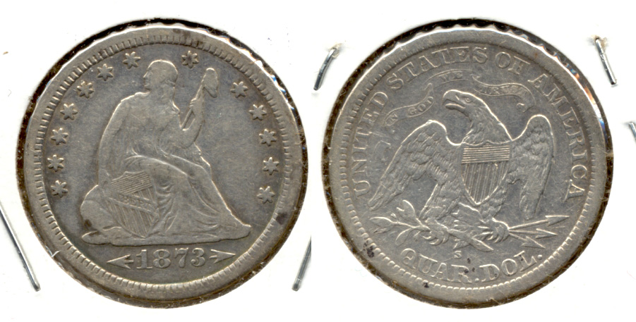 1873-S Seated Liberty Quarter VF-20