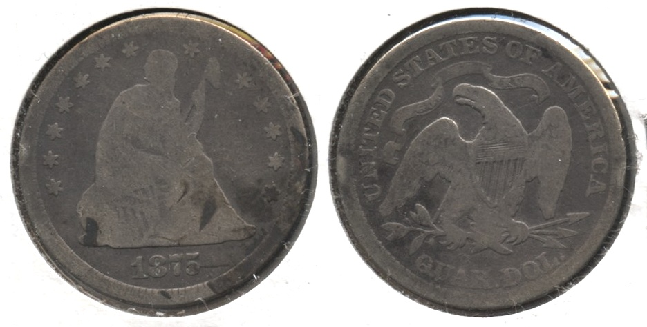 1875 Seated Liberty Quarter Good-4