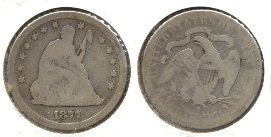 1877-S Seated Liberty Quarter AG-3