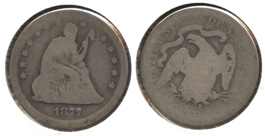 1877-S Seated Liberty Quarter AG-3 #a