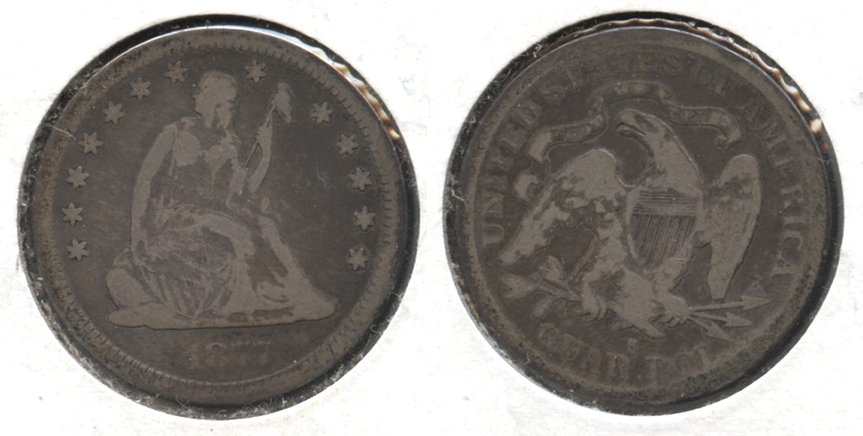 1877-S Seated Liberty Quarter Good-6