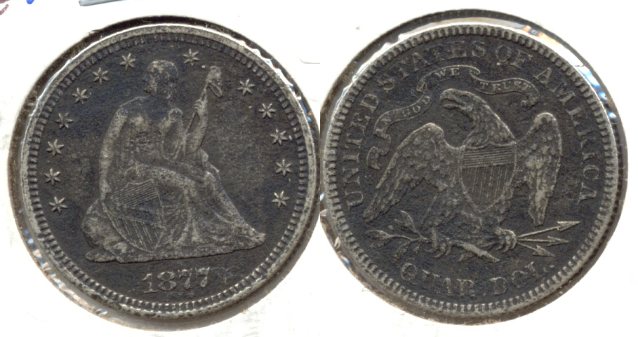 1877 Seated Liberty Quarter EF-40 Rough