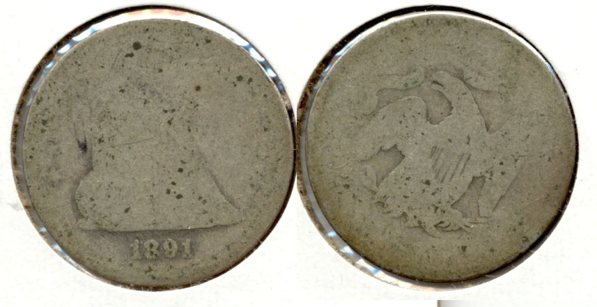 1891 Seated Liberty Quarter Fair-2 d
