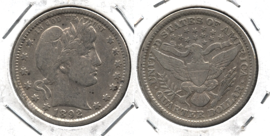 1892 Barber Quarter Fine-12 Cleaned