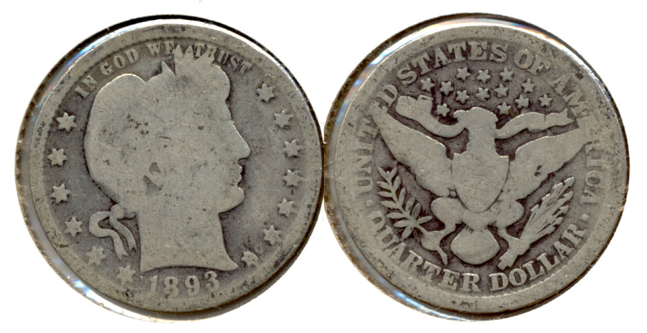 1893 Barber Quarter AG-3 a