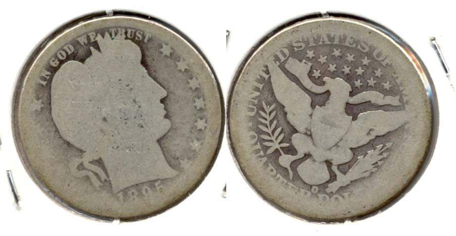 1895-O Barber Quarter AG-3