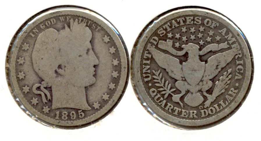 1895-O Barber Quarter Good-4 a