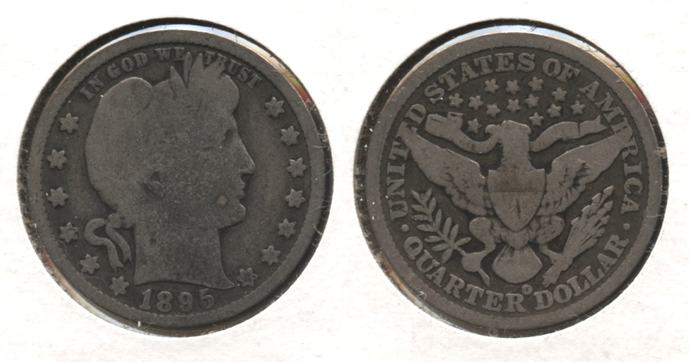 1895-O Barber Quarter Good-4 #e