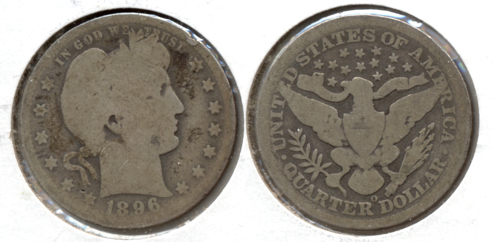 1896-O Barber Quarter AG-3