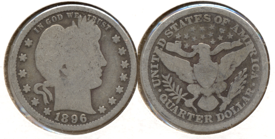 1896 Barber Quarter Good-4