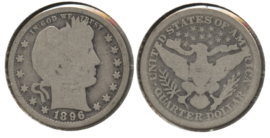 1896 Barber Quarter Good-4 #c