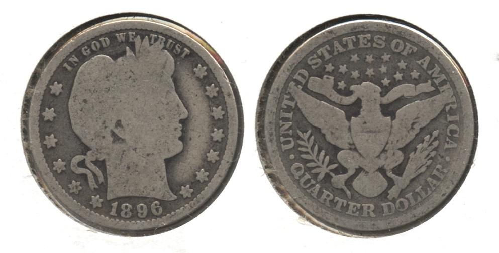 1896 Barber Quarter Good-4 #j