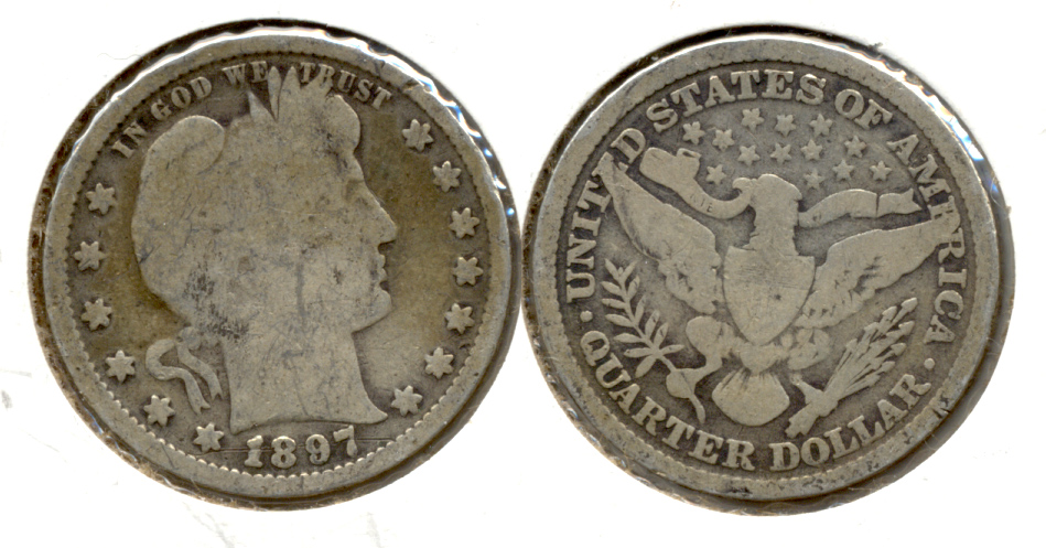 1897 Barber Quarter Good-4 e