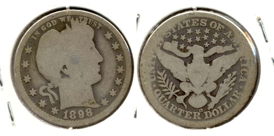 1898-O Barber Quarter AG-3 a