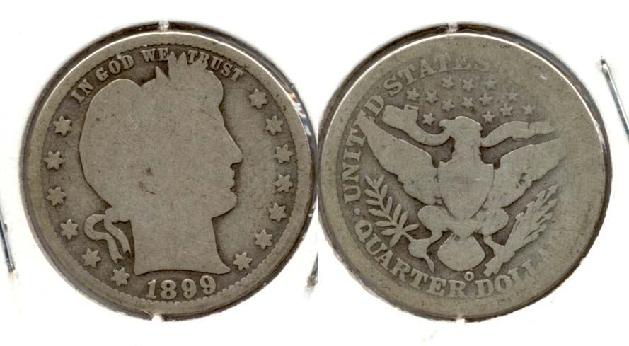 1899-O Barber Quarter AG-3