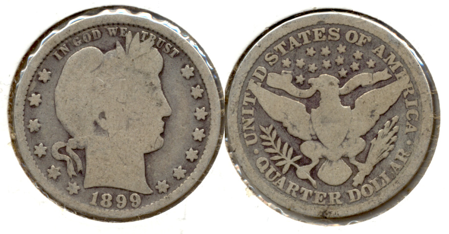 1899 Barber Quarter Good-4 k