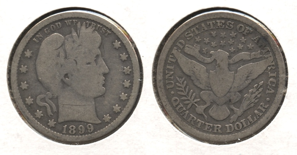 1899 Barber Quarter Good-4 #w