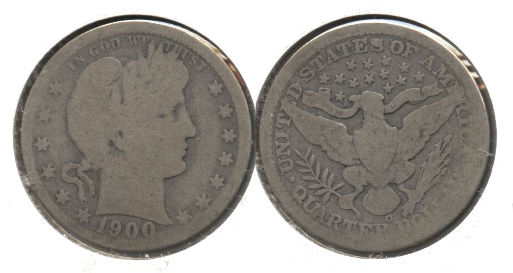 1900-O Barber Quarter AG-3 #b