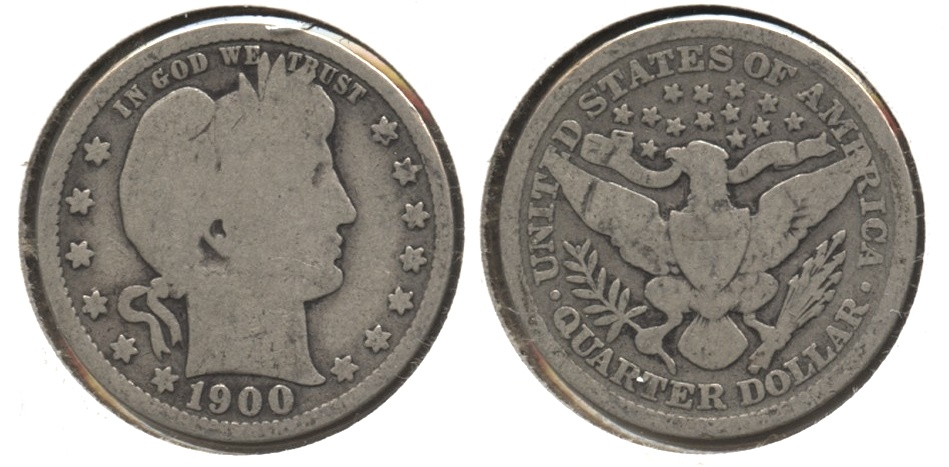 1900 Barber Quarter Good-4 #h