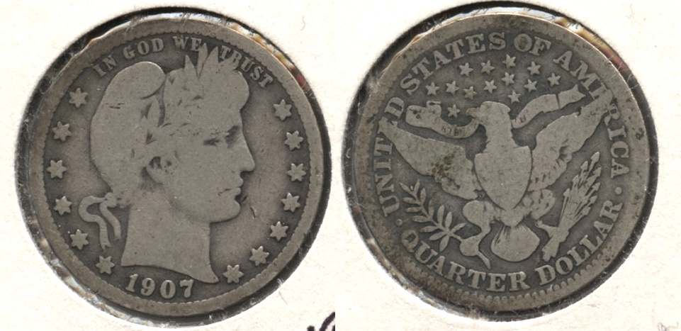1907 Barber Quarter Good-4 c