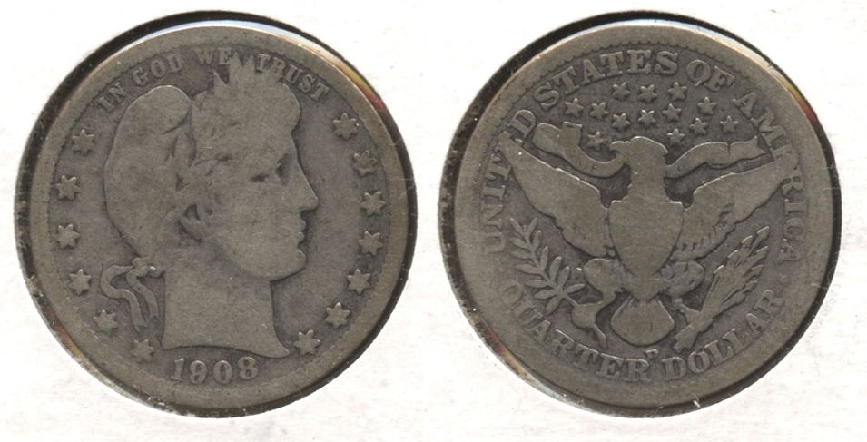 1908-D Barber Quarter Good-4 #h