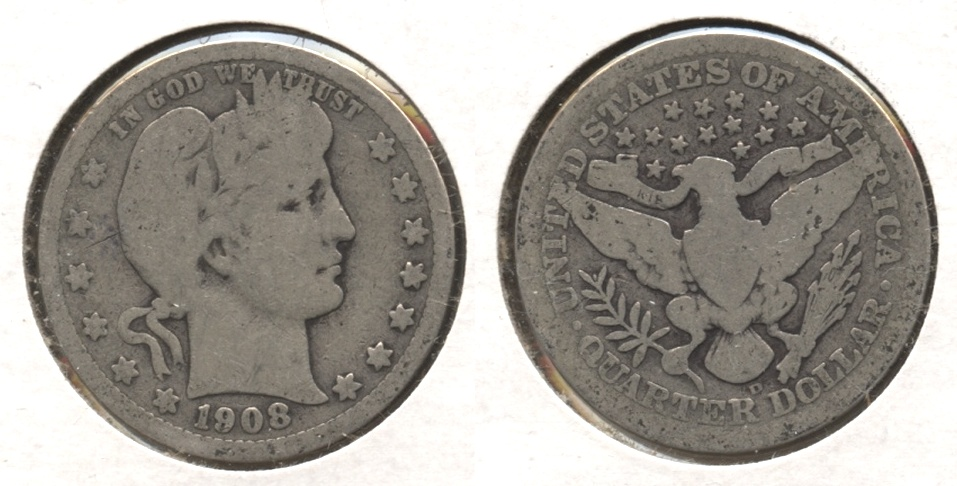 1908-D Barber Quarter Good-4 #j