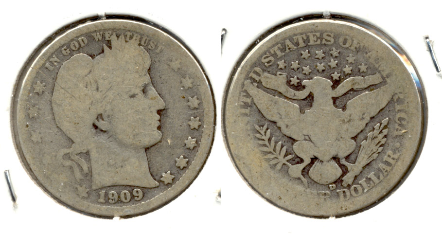 1909-D Barber Quarter AG-3