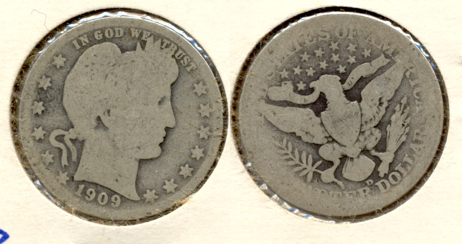 1909-D Barber Quarter AG-3 a