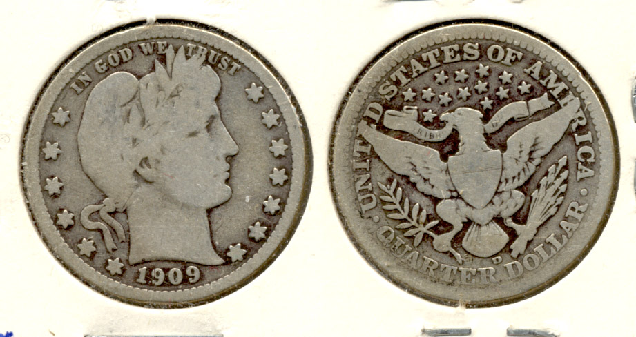1909-D Barber Quarter Good-4