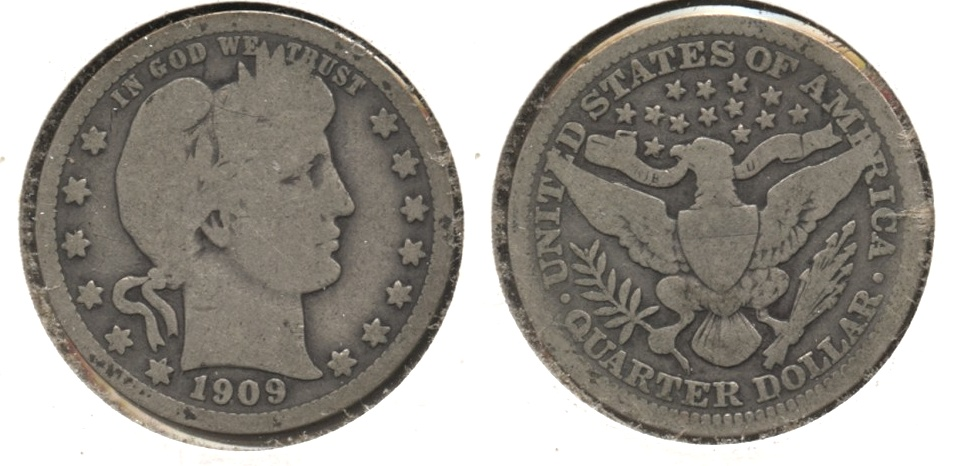 1909 Barber Quarter Good-4 #r