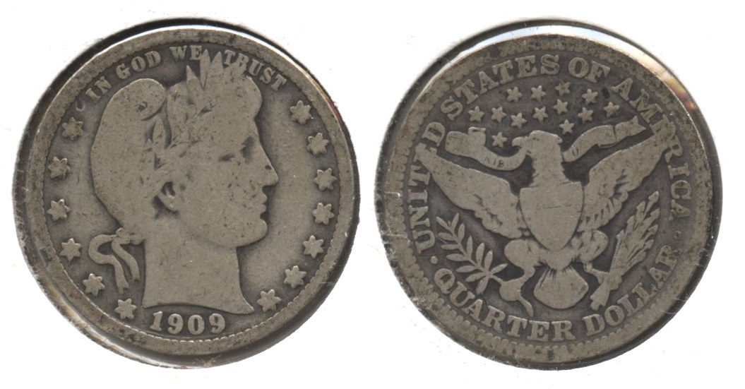 1909 Barber Quarter Good-4 #v