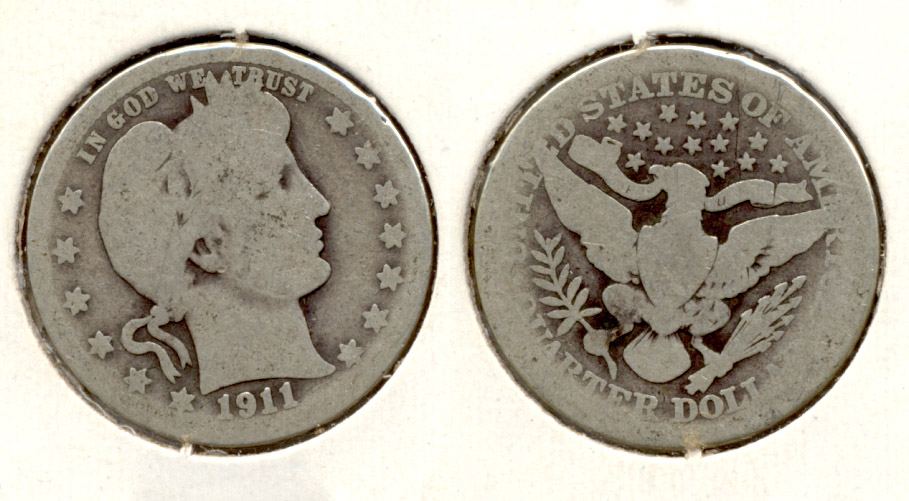 1911 Barber Quarter AG-3 g