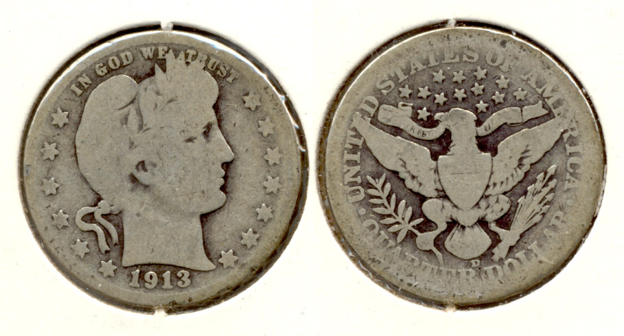 1913-D Barber Quarter AG-3 a