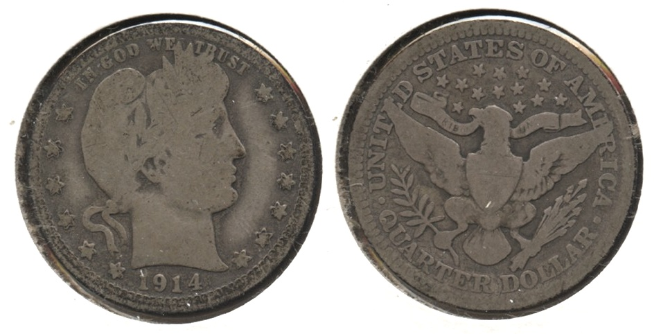 1914 Barber Quarter Good-4 #f