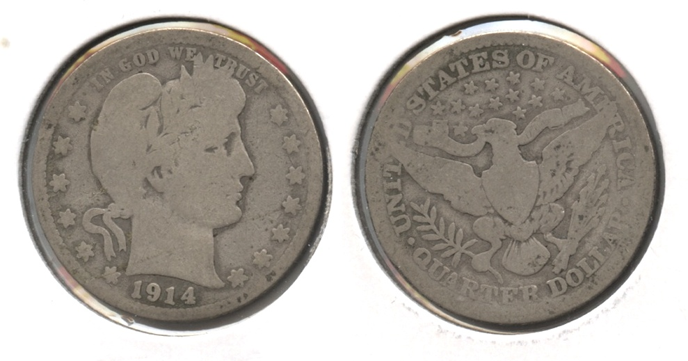 1914 Barber Quarter Good-4 #l